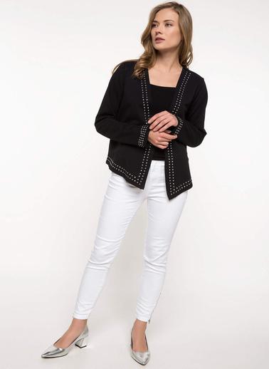 DeFacto Trok Detaylı Blazer Ceket Siyah